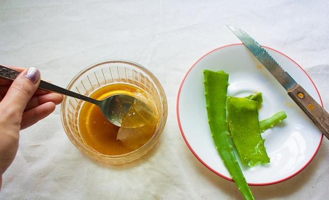 Тампоны из алоэ и меда