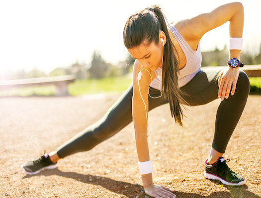 упражнения на улице или зале